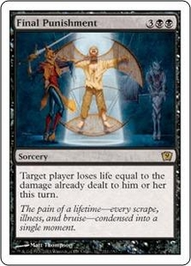 Magic the Gathering Ninth Edition Single Card Rare #131 Final Punishment