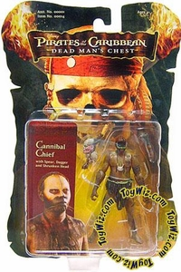 Zizzle Pirates of the Caribbean Dead Man's Chest 3 3/4 Inch Action Figure Cannibal Chief