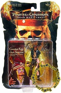 Zizzle Pirates of the Caribbean Dead Man's Chest 3 3/4 Inch Action Figure Cannibal King Jack Sparrow
