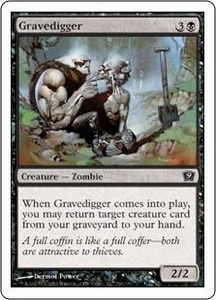 Magic the Gathering Ninth Edition Single Card Common #136 Gravedigger