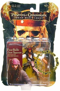 Zizzle Pirates of the Caribbean Dead Man's Chest 3 3/4 Inch Action Figure Final Battle Jack Sparrow