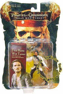 Zizzle Pirates of the Caribbean Dead Man's Chest 3 3/4 Inch Action Figure Final Battle Will Turner