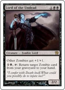 Magic the Gathering Ninth Edition Single Card Rare #143 Lord of the Undead