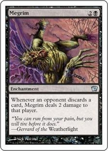 Magic the Gathering Ninth Edition Single Card Uncommon #144 Megrim