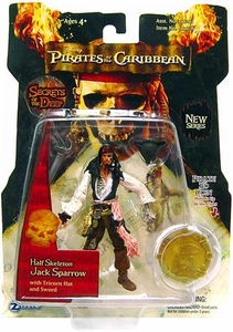 Zizzle Pirates of the Caribbean Dead Man's Chest 3 3/4 Inch Action Figure Series 3 Half Skeleton Jack Sparrow