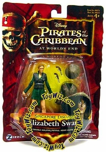 Disney Pirates of the Caribbean At Worlds End Zizzle 3 3/4 Inch Action Figure Series 3 Singapore Disguised Elizabeth Swann