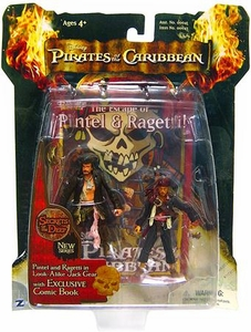 Zizzle Pirates of the Caribbean Dead Man's Chest 3 3/4 Inch Action Figure Series 3 Deluxe Pintel & Ragetti in Look-Alike Jack Gear
