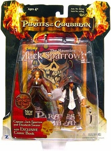 Zizzle Pirates of the Caribbean Dead Man's Chest 3 3/4 Inch Action Figure Series 3 Deluxe Captain Jack Sparrow & Elizabeth Swann