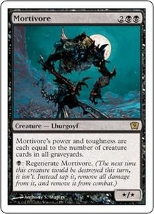 Magic the Gathering Ninth Edition Single Card Rare #147 Mortivore