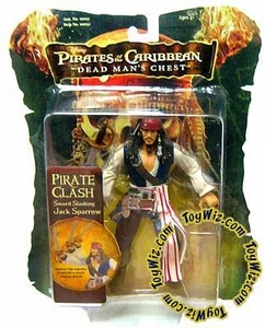Zizzle Pirates of the Caribbean Dead Man's Chest 7 Inch Action Figure Pirate Clash Sword Slashing Jack Sparrow