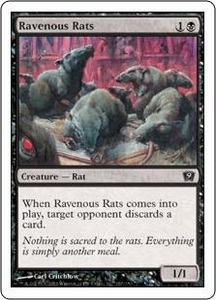 Magic the Gathering Ninth Edition Single Card Common #157 Ravenous Rats