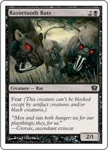 Magic the Gathering Ninth Edition Single Card Common #158 Razortooth Rats
