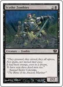 Magic the Gathering Ninth Edition Single Card Common #160 Scathe Zombies