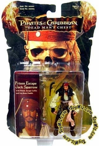 Zizzle Pirates of the Caribbean Dead Man's Chest 3 3/4 Inch Action Figure Prison Escape Captain Jack Sparrow