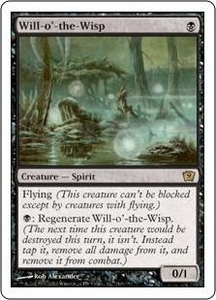 Magic the Gathering Ninth Edition Single Card Rare #169 Will-o'-the-Wisp