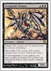 Magic the Gathering Ninth Edition Single Card Rare #170 Yawgmoth Demon