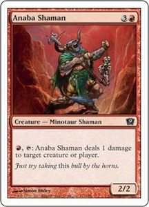 Magic the Gathering Ninth Edition Single Card Common #172 Anaba Shaman