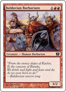 Magic the Gathering Ninth Edition Single Card Common #174 Balduvian Barbarians