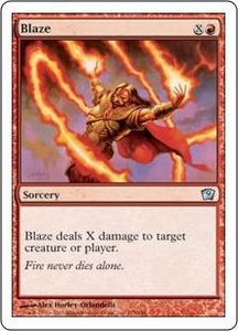 Magic the Gathering Ninth Edition Single Card Uncommon #175 Blaze