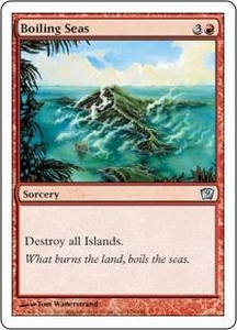Magic the Gathering Ninth Edition Single Card Uncommon #178 Boiling Seas