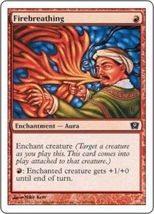 Magic the Gathering Ninth Edition Single Card Common #181 Firebreathing