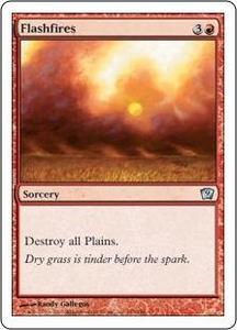 Magic the Gathering Ninth Edition Single Card Uncommon #183 Flashfires