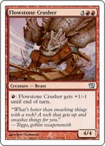 Magic the Gathering Ninth Edition Single Card Uncommon #184 Flowstone Crusher
