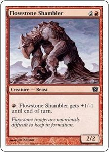 Magic the Gathering Ninth Edition Single Card Common #185 Flowstone Shambler