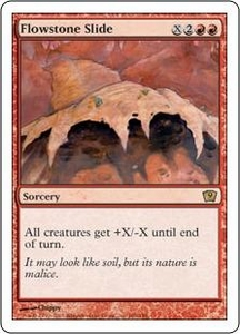 Magic the Gathering Ninth Edition Single Card Rare #186 Flowstone Slide