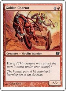 Magic the Gathering Ninth Edition Single Card Common #191 Goblin Chariot