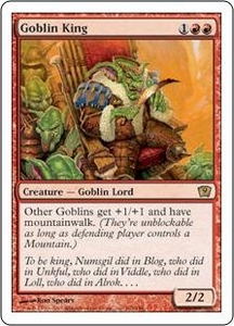 Magic the Gathering Ninth Edition Single Card Rare #192 Goblin King