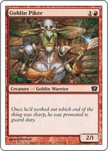 Magic the Gathering Ninth Edition Single Card Common #194 Goblin Piker
