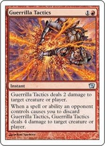 Magic the Gathering Ninth Edition Single Card Uncommon #196 Guerrilla Tactics