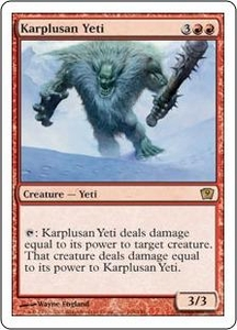 Magic the Gathering Ninth Edition Single Card Rare #198 Karplusan Yeti