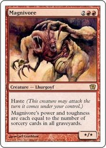 Magic the Gathering Ninth Edition Single Card Rare #202 Magnivore