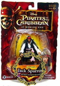Disney Pirates of the Caribbean At Worlds End Zizzle 3 3/4 Inch Action Figure Series 3 Captain Jack Sparrow