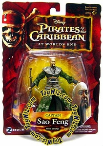 Disney Pirates of the Caribbean At Worlds End Zizzle 3 3/4 Inch Action Figure Series 3 Sao Feng