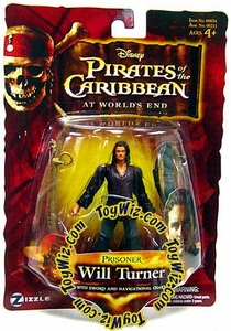 Disney Pirates of the Caribbean At Worlds End Zizzle 3 3/4 Inch Action Figure Series 3 Prisoner Will Turner