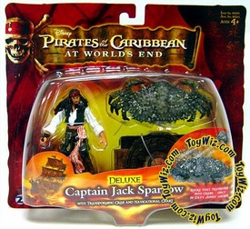 Disney Pirates of the Caribbean At Worlds End Zizzle 3 3/4 Inch Action Figure Series 3 DELUXE Captain Jack Sparrow with Transforming Crab