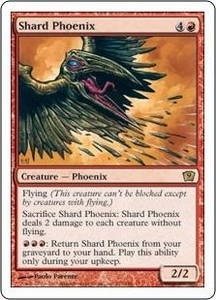 Magic the Gathering Ninth Edition Single Card Rare #217 Shard Phoenix