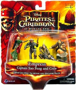 Disney Pirates of the Caribbean At Worlds End Zizzle PVC Figure Set Empress [Sao Feng, Huang & 2 Pirates]