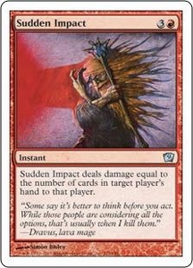 Magic the Gathering Ninth Edition Single Card Uncommon #222 Sudden Impact