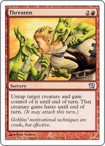 Magic the Gathering Ninth Edition Single Card Uncommon #223 Threaten