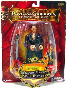 Zizzle Pirates of the Caribbean At World's End Dual Action Battler Figure Weapons Master Will Turner