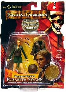 Disney Pirates of the Caribbean At Worlds End Zizzle 3 3/4 Inch Action Figure Series 3 Singapore Disguised Elizabeth Swann [Sneak Preview]