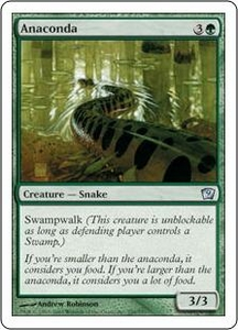 Magic the Gathering Ninth Edition Single Card Uncommon #229 Anaconda