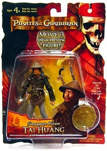 Disney Pirates of the Caribbean At Worlds End Zizzle 3 3/4 Inch Action Figure Series 3 Singapore Pirate Tai Huang [Sneak Preview]