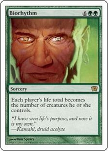 Magic the Gathering Ninth Edition Single Card Rare #231 Biorhythm