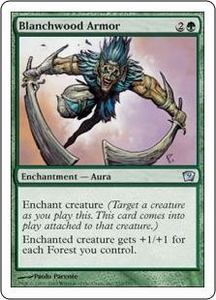 Magic the Gathering Ninth Edition Single Card Uncommon #232 Blanchwood Armor