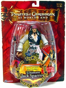 Zizzle Pirates of the Caribbean At World's End Dual Action Battler Figure Ultimate Jack Sparrow